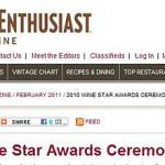 【速報】ワインエンスージアストマガジンの2010ワインリージョン・オブ・ザ・イヤー、ローヌヴァレーが受賞。