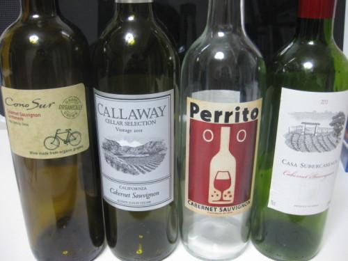 コンビニやスーパーで購入したワイン